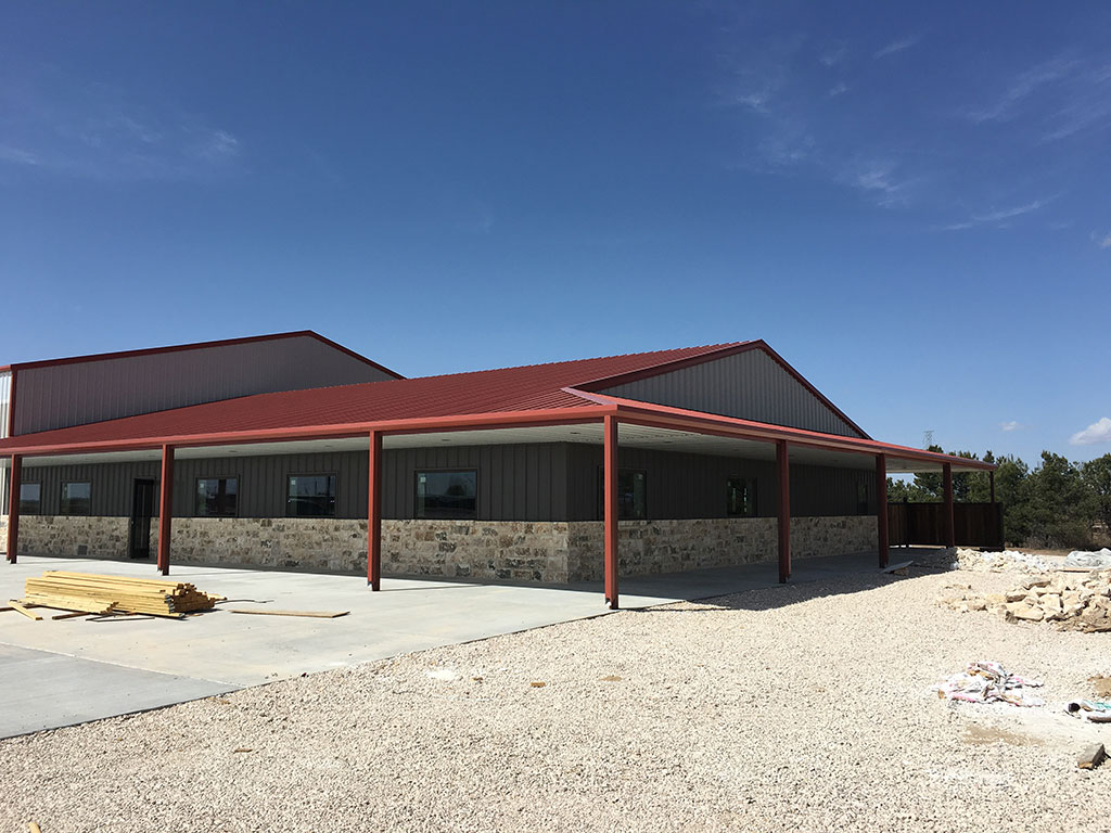 Commercial metal building with icf titan homes Contractors for building homes